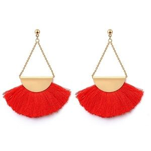💖CHARLIE 2 CHERRY TASSLE  WOMAN'S DANGLE EARRINGS